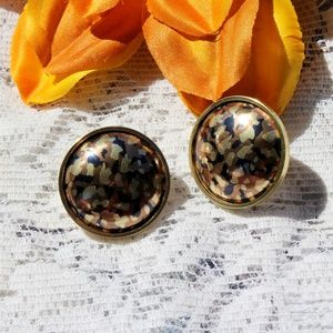 1980's Leopard Print Earrings